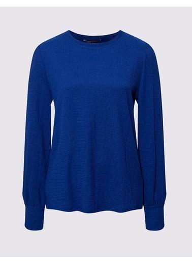 Marks & Spencer Özel Dokulu Bluz Lacivert